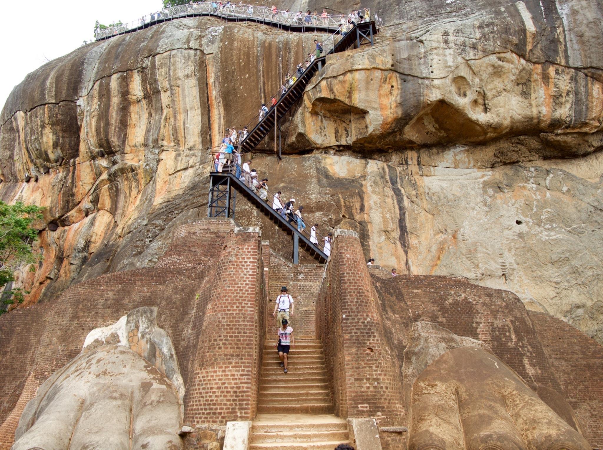 climbing sigiriya rock
