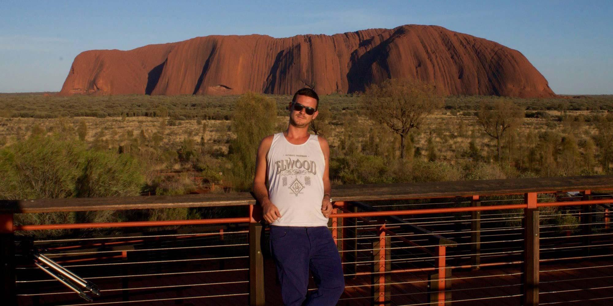 Me in front of Uluru