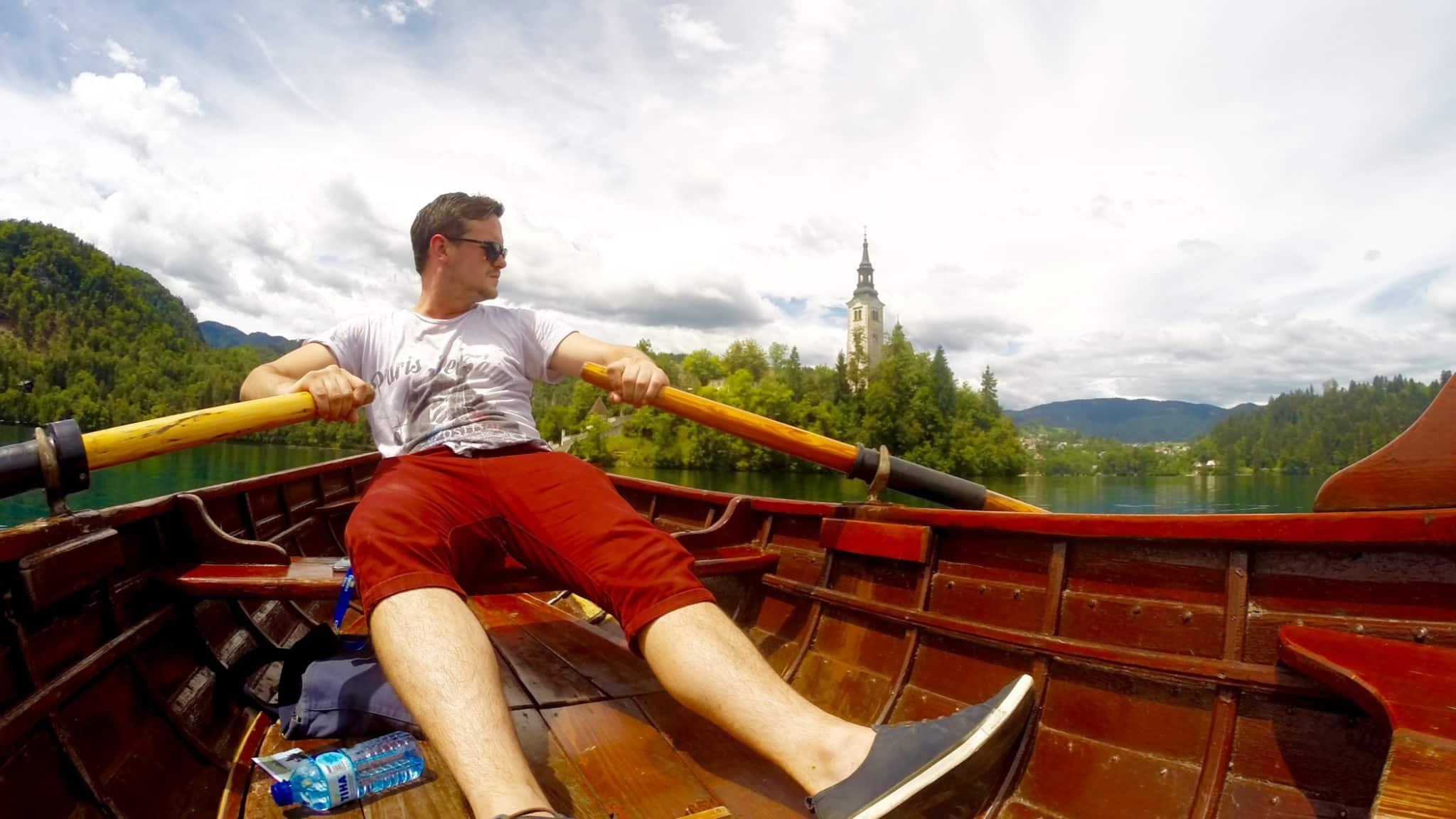 boat in Lake Bled