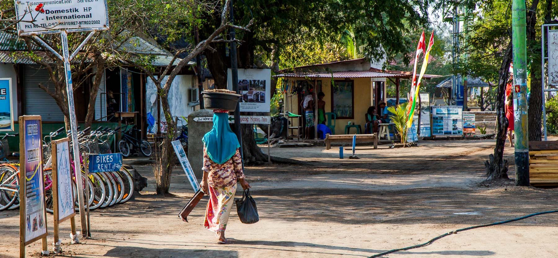 Gili Islands Women Walking