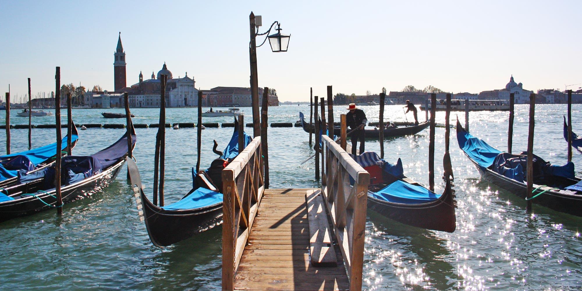 Italy Venice Gondolas Bridge