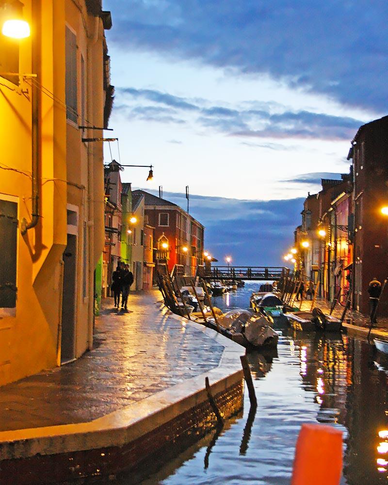 Italy Venice Murano Night