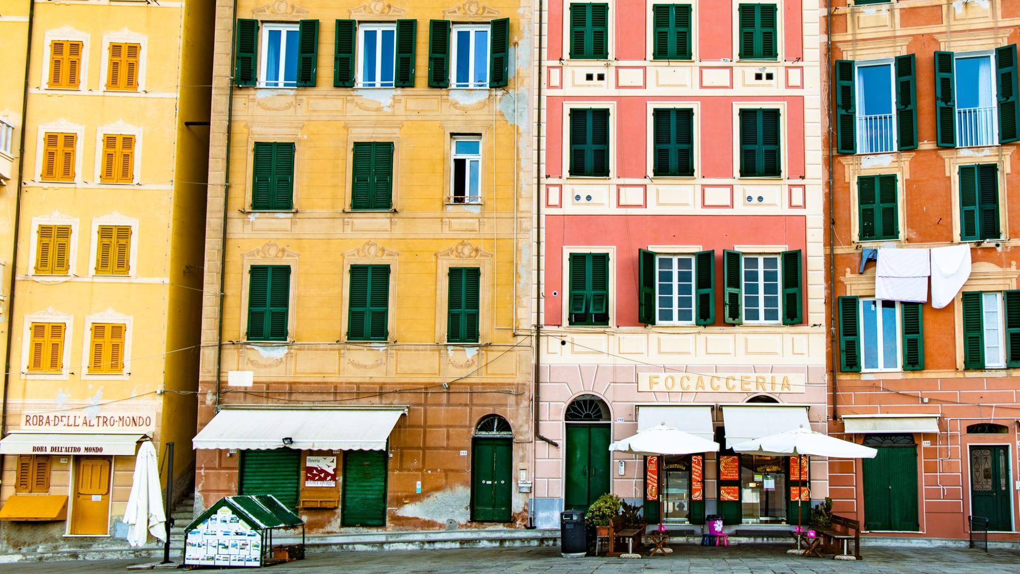 Checking in to Corniglia in Italy