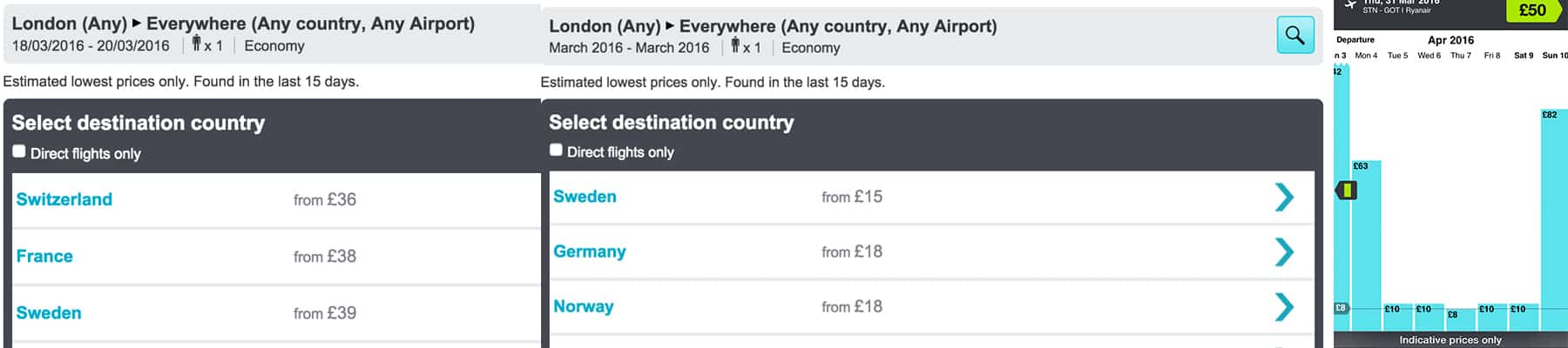Cheap Flights with SkyScanner