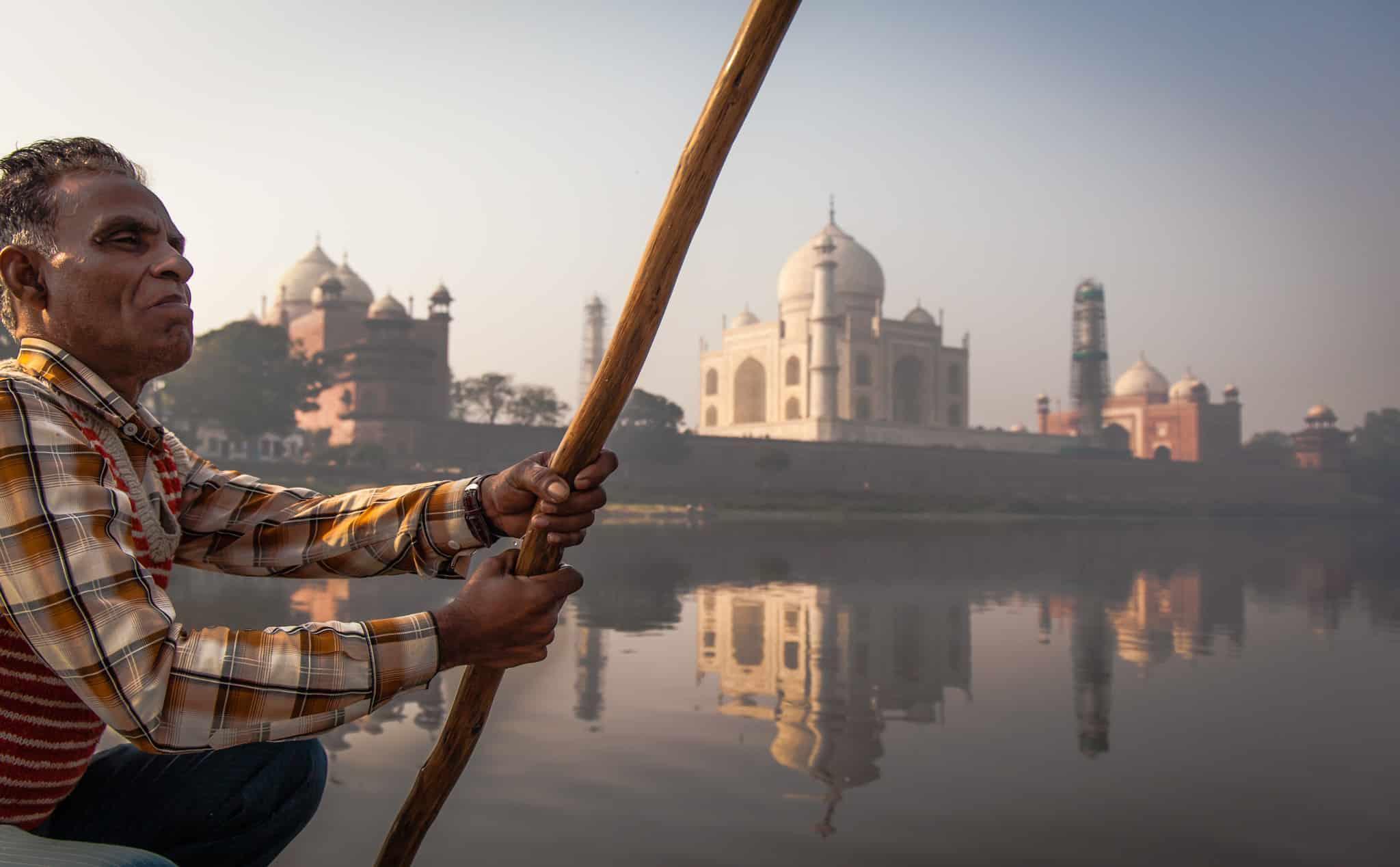 Taj Mahal Boat Ride