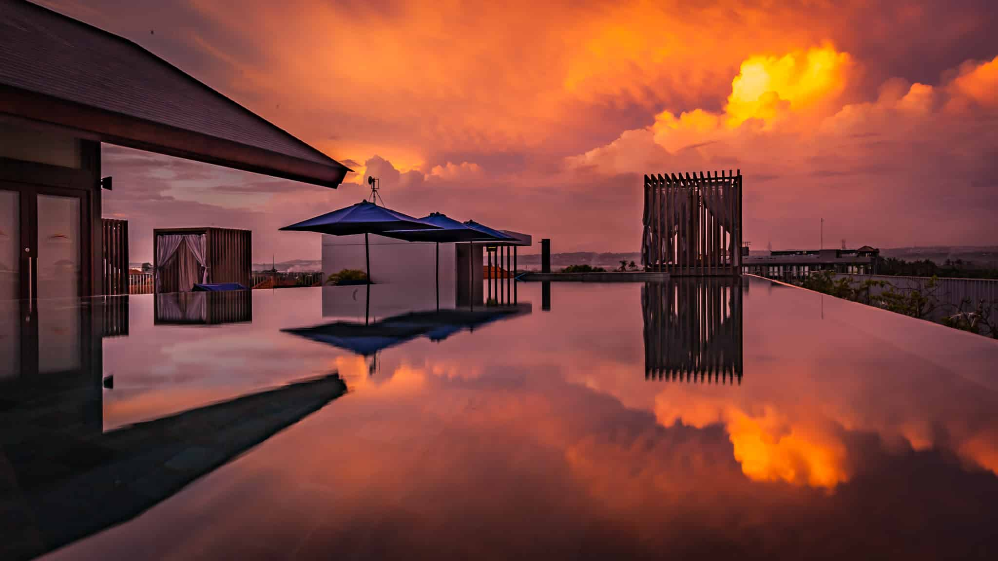 Watermark Bali Swiming Pool Sunrise