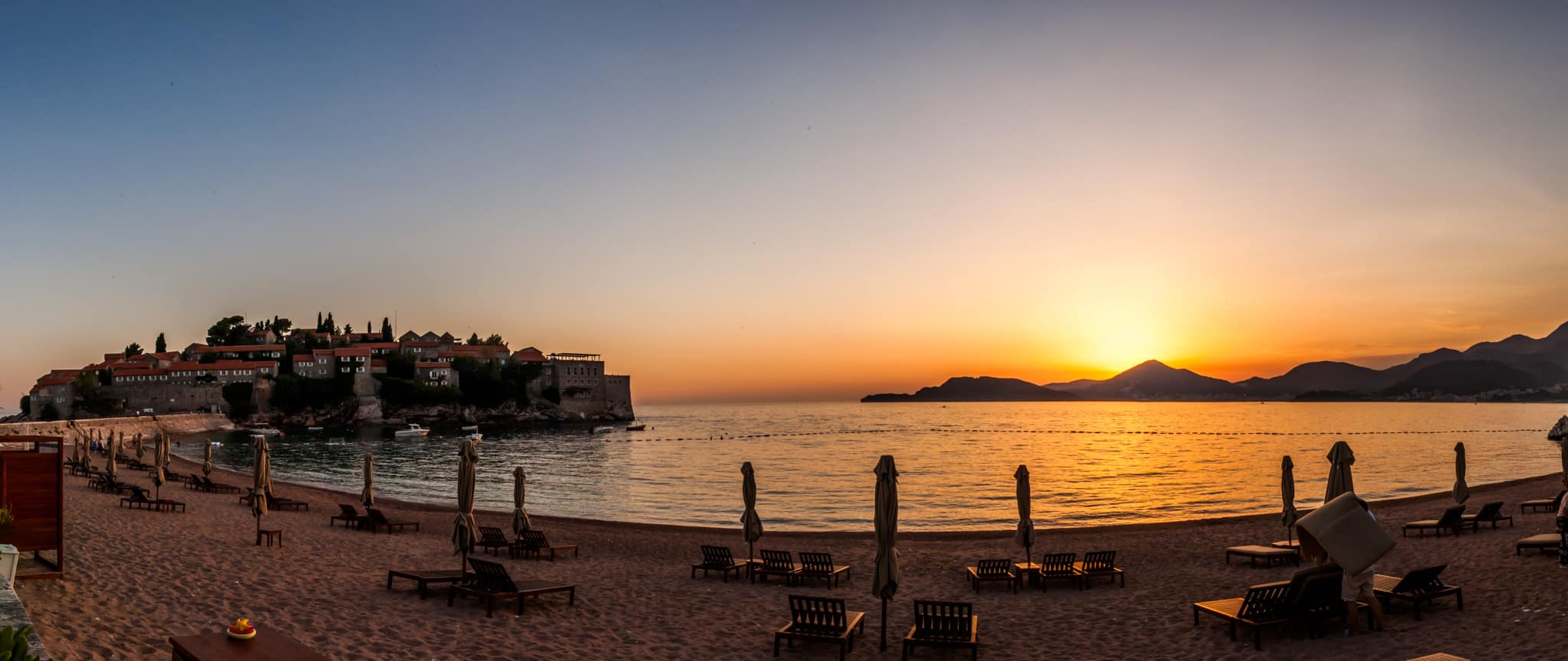 Sunset at Sveti Stefan