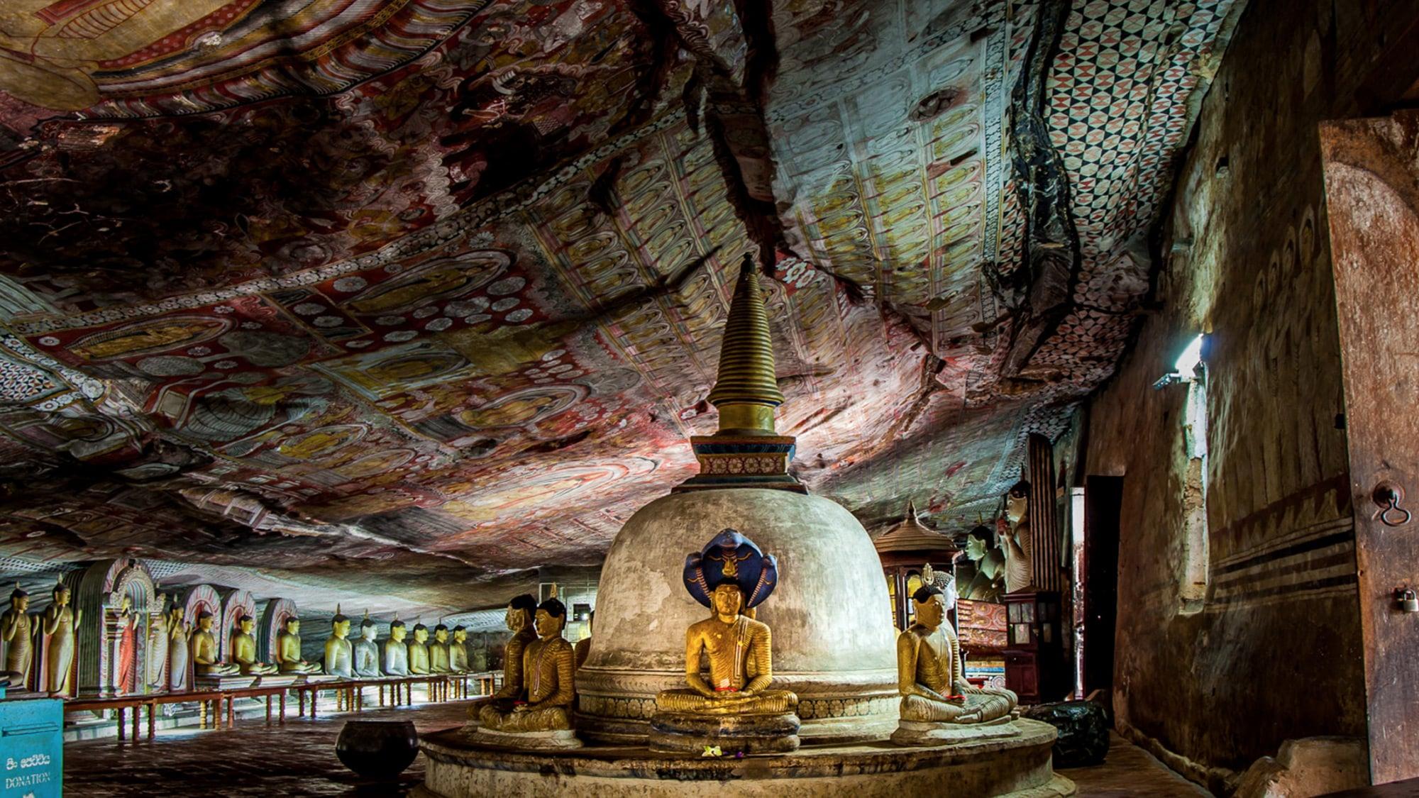 Dambulla Caves Inside Sri Lanka