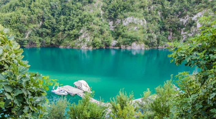 Lake Komani Albania