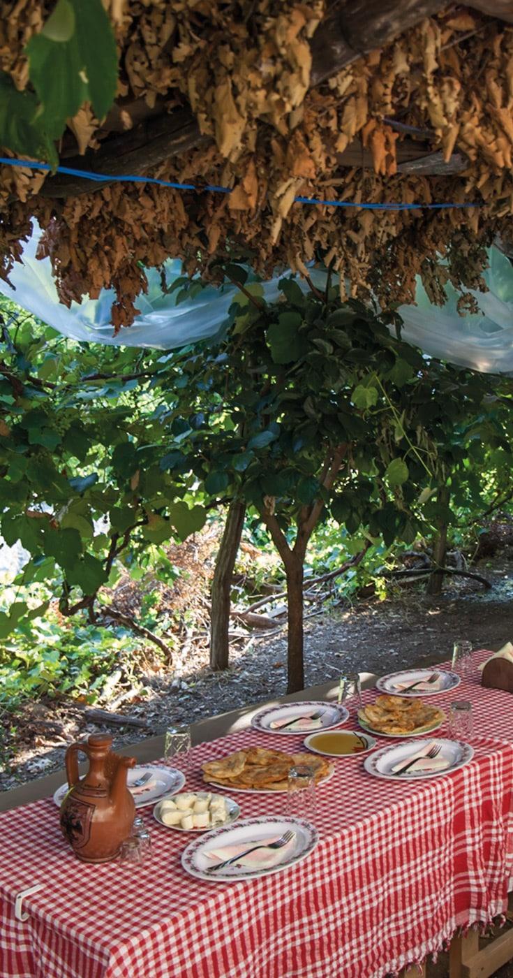 Lake Komani Tour Food