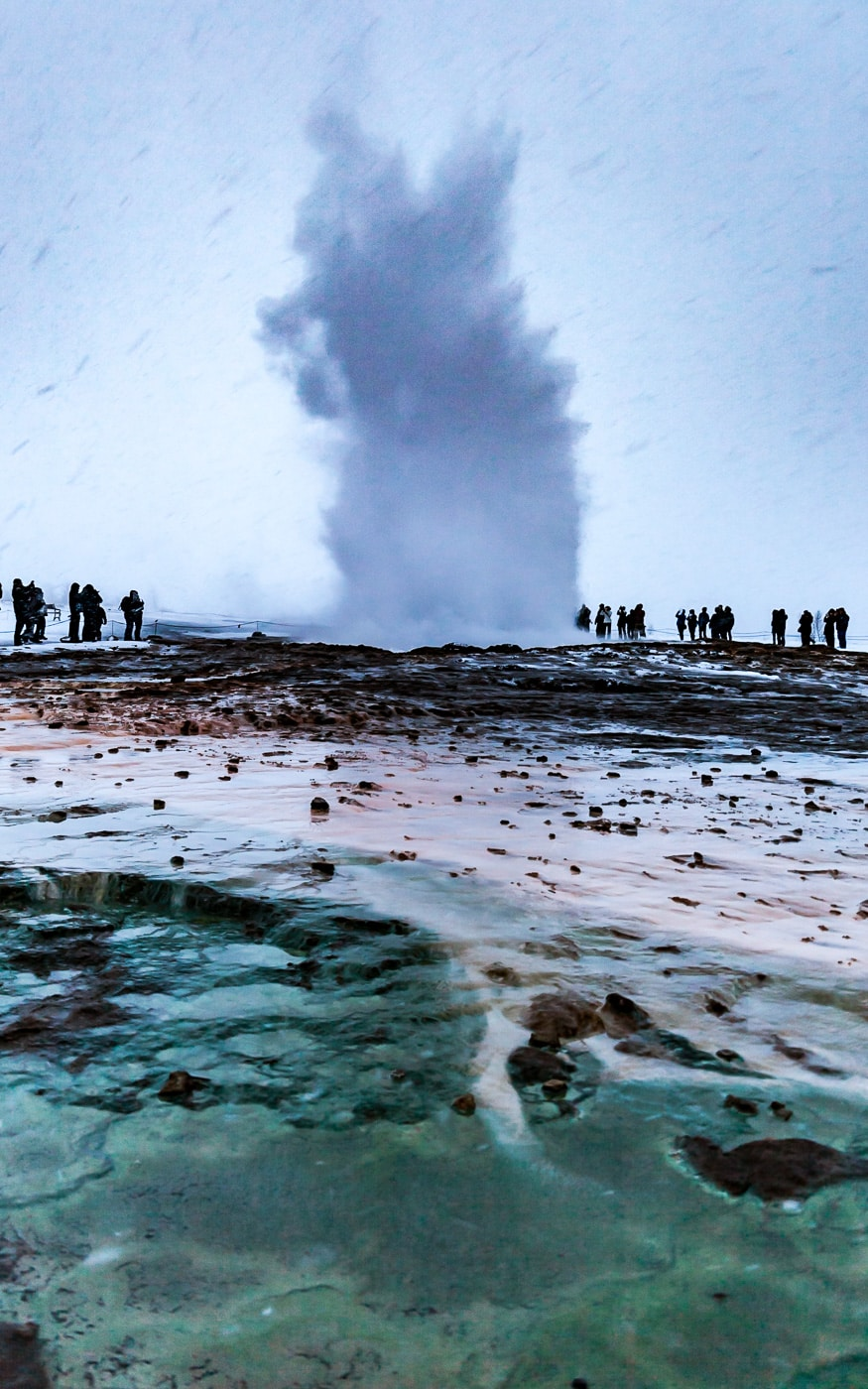 Iceland Geyser Winter