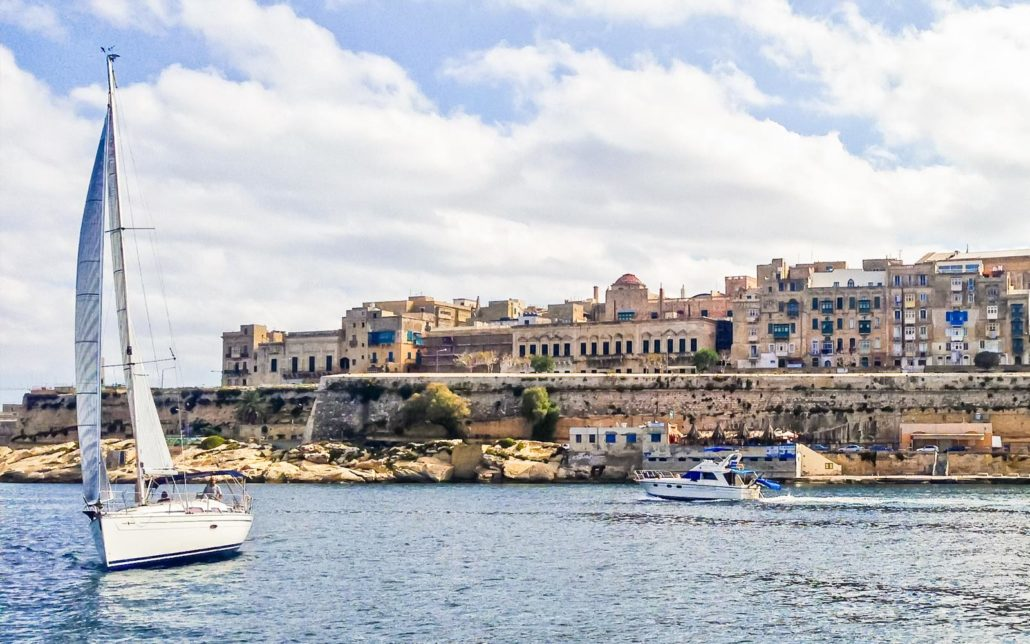 Boats in the Maltese harbour