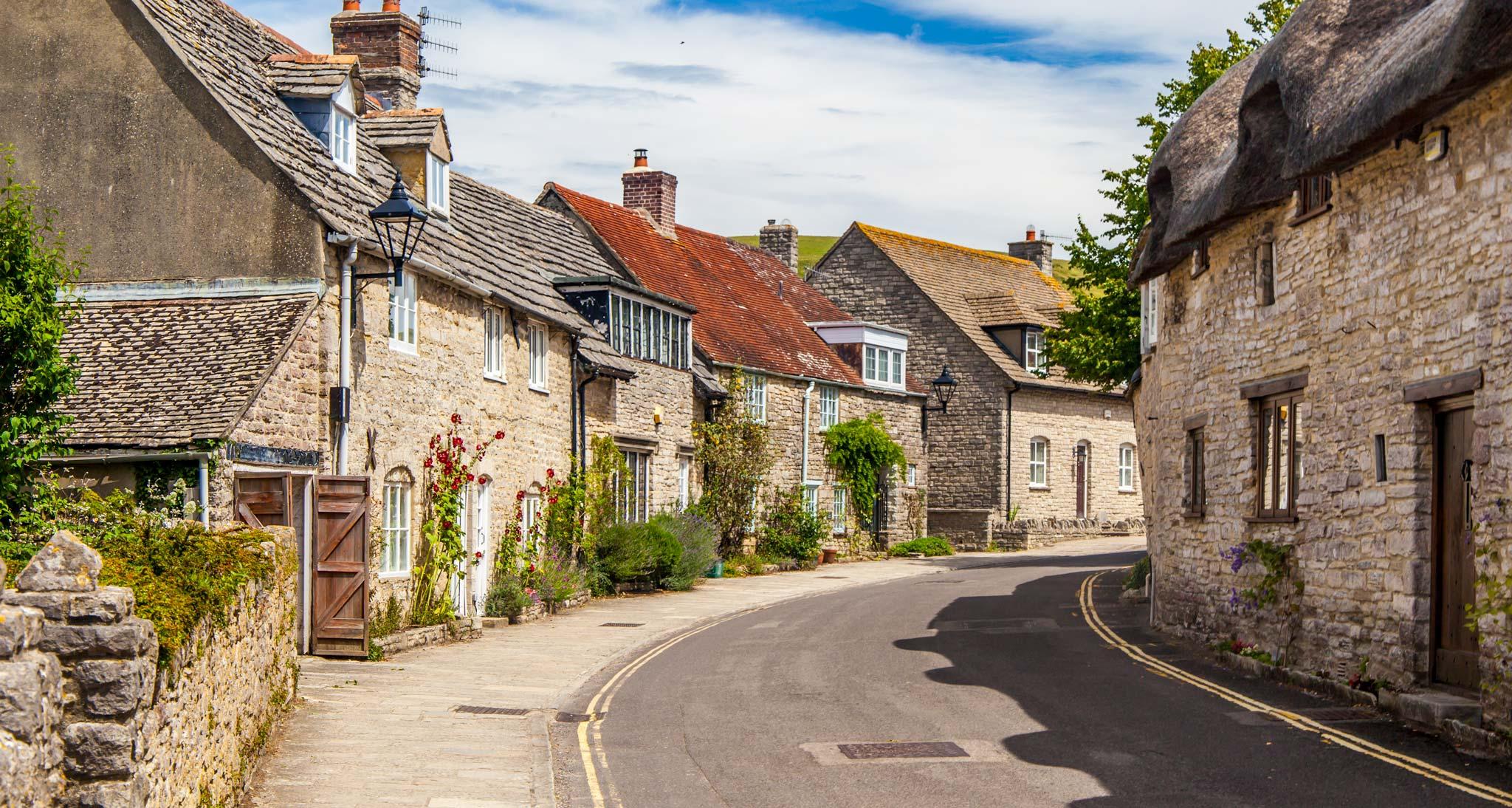 Quaint streets in Dorset