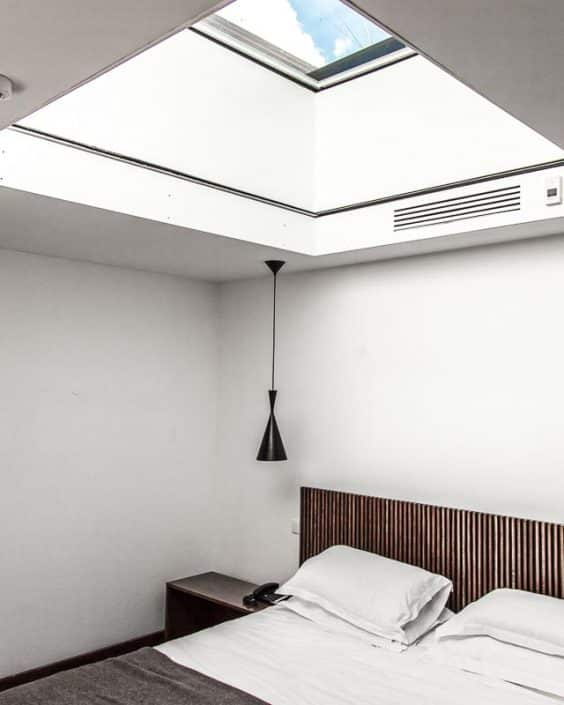 The Sky-suite has a ceiling window for star gazing