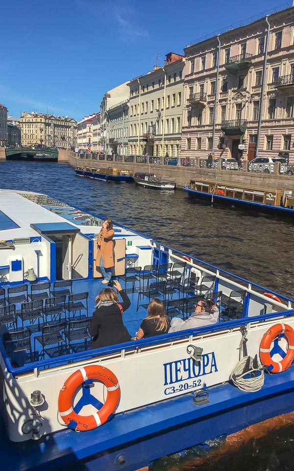canal boat cruise in St Petersburg