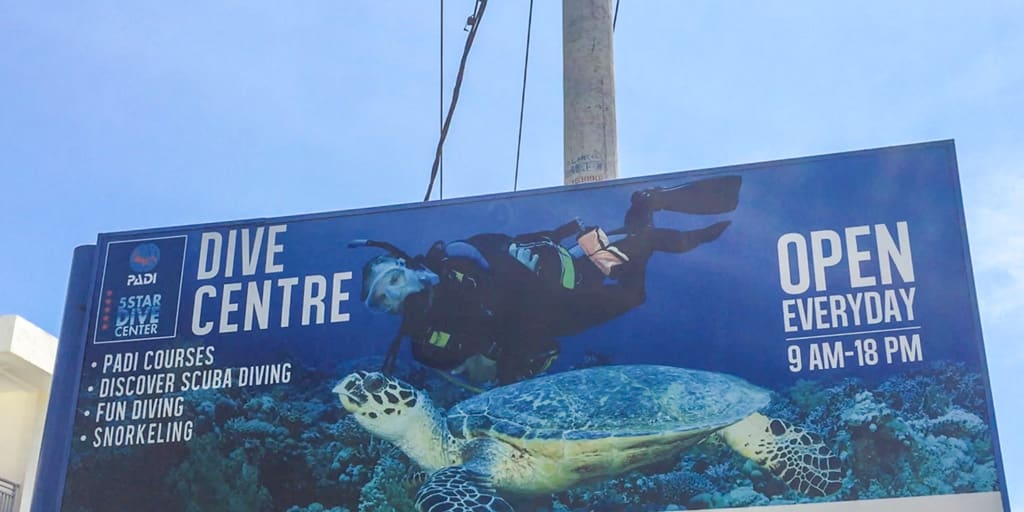 A certified dive centre in Indonesia