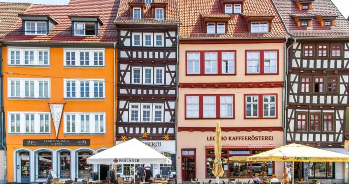 Houses in Erfurt Thuringia
