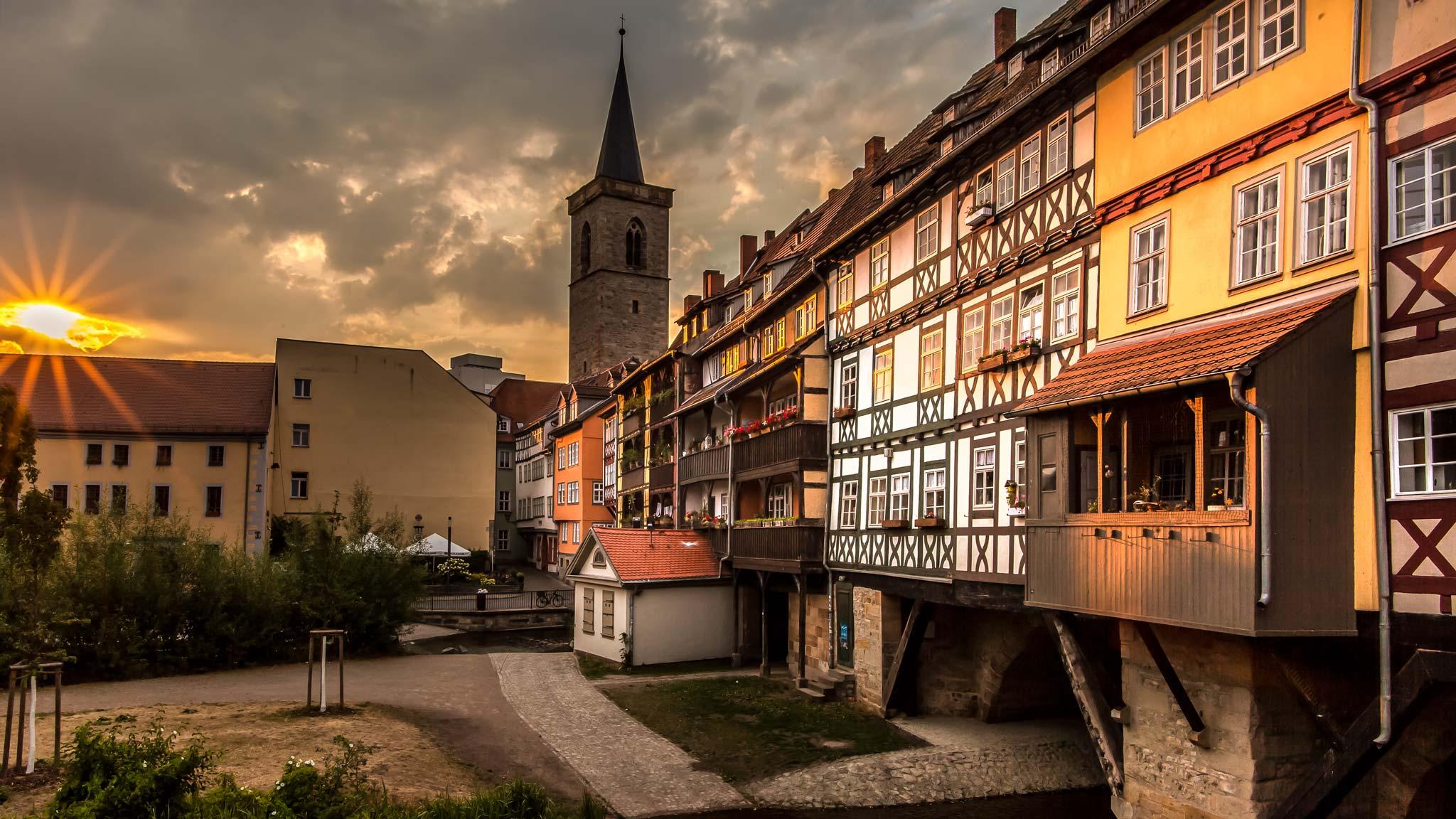 Sunrise Erfurt Thuringia
