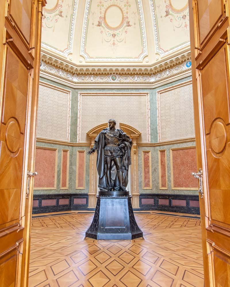Palace statue Gotha Thuringia