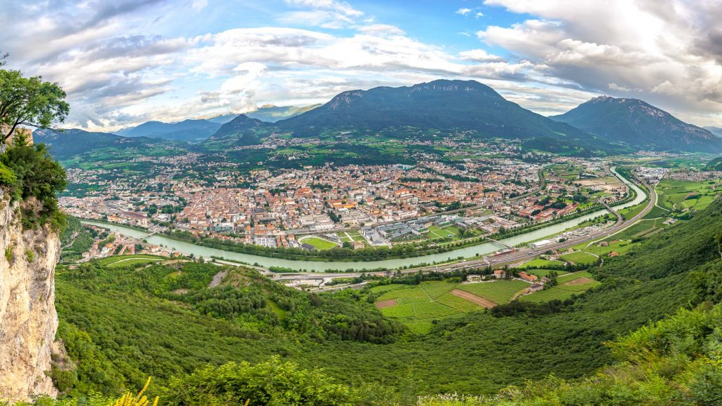 Looking down on Trento