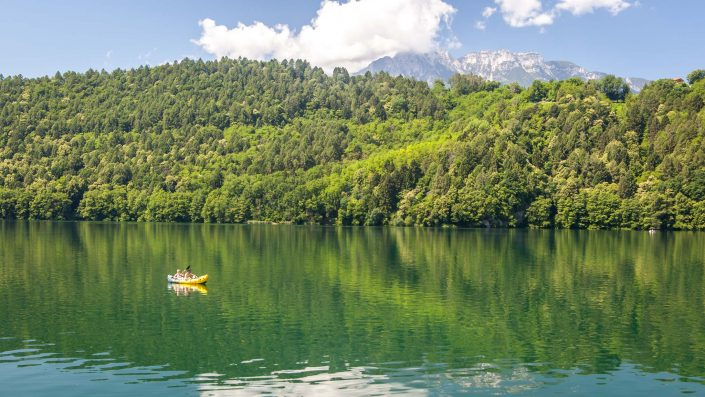 Lake Levico in Valsugana