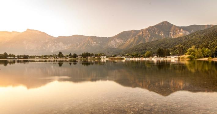 Sunrise at Lake Caldonazzo