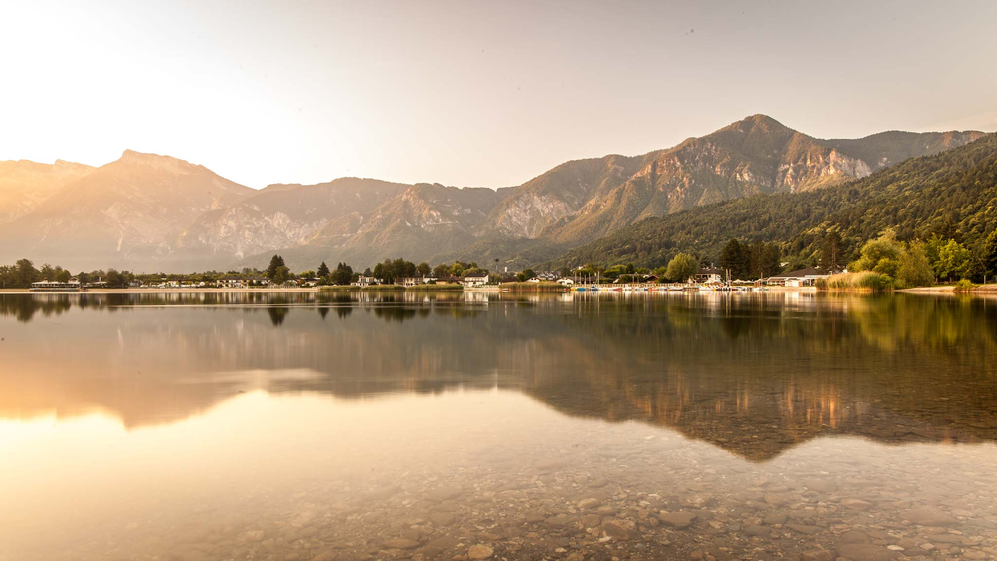Sunrise at Lake Caldonazzo