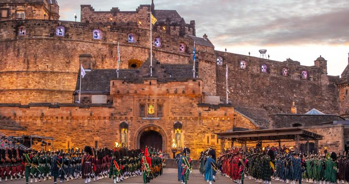The Royal Edinburgh Military Tattoo is one of the eleven festivals in Edinburgh