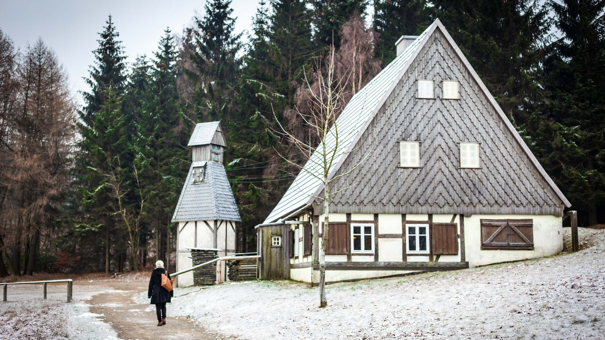 Open-air museum with ring turning workshop