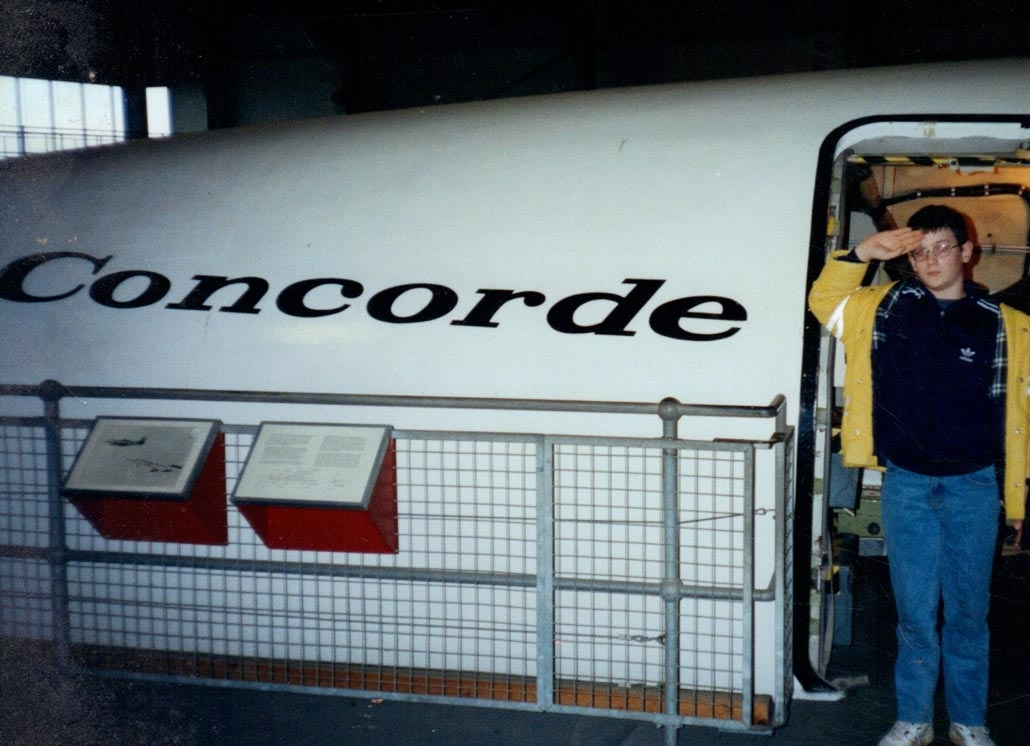 Dan with Concorde