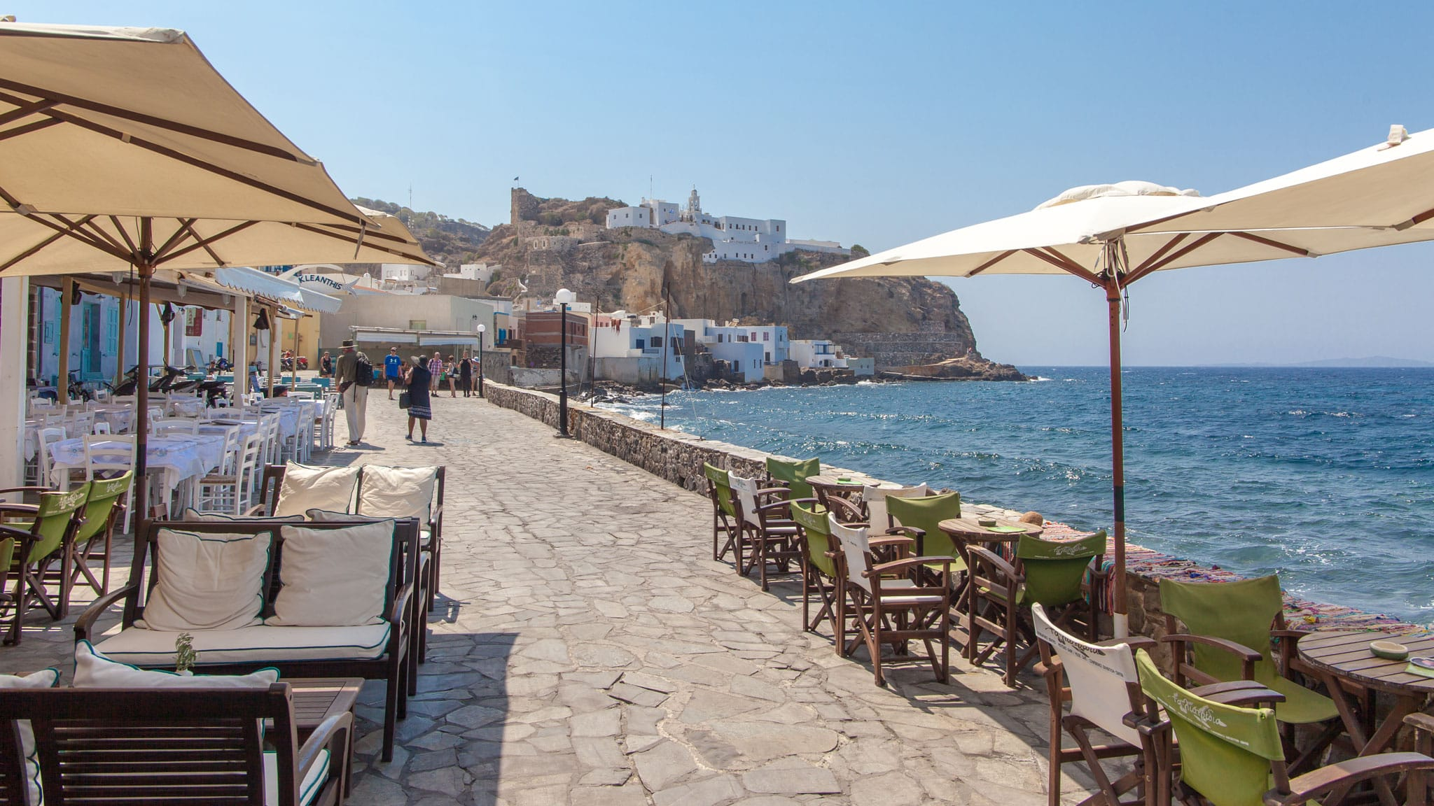 Restaurants on the Nisyros Waterfront