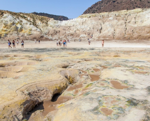 Inside the crater of Nisyros Island