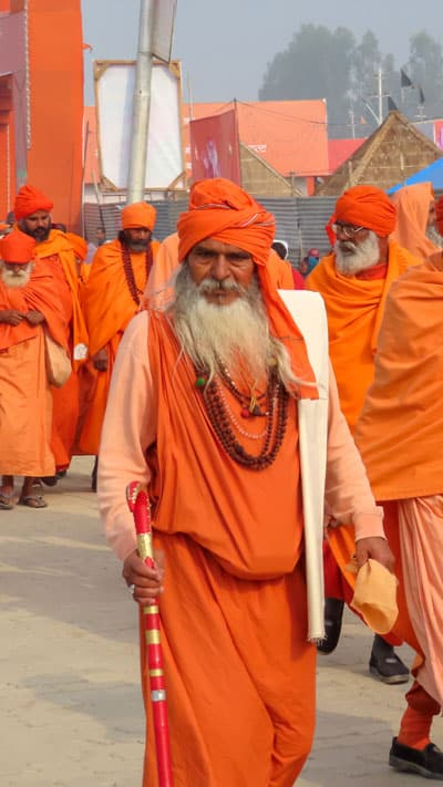 Pilgrims at Kumbh Mela