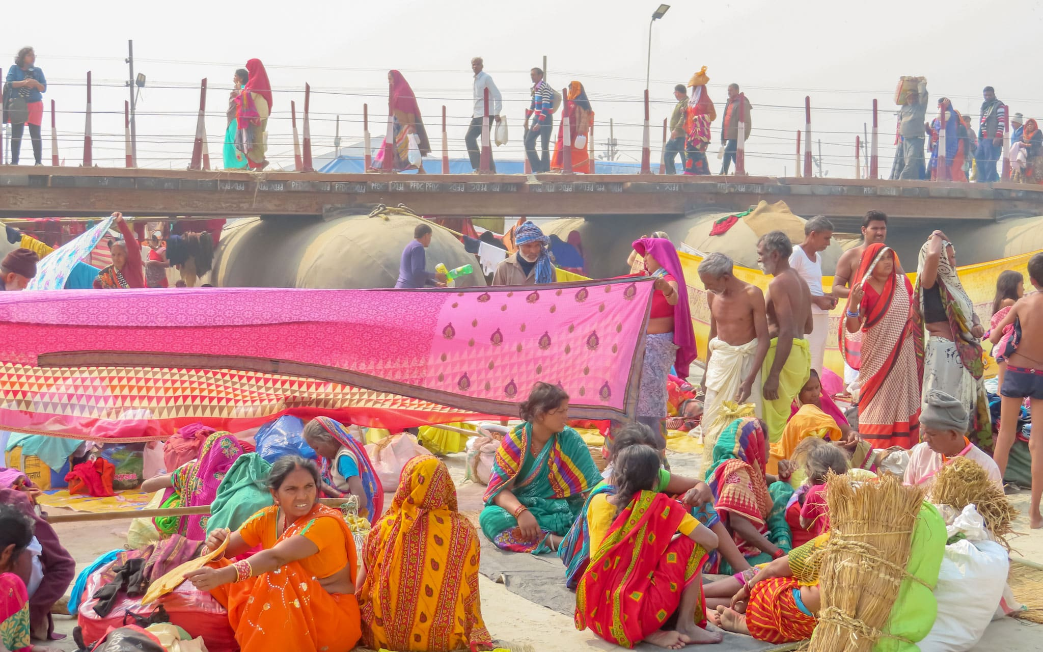 Kumbh Meal Pontoon Bridge