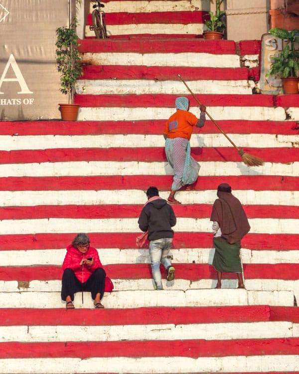 Varanasi Ghat Stairs
