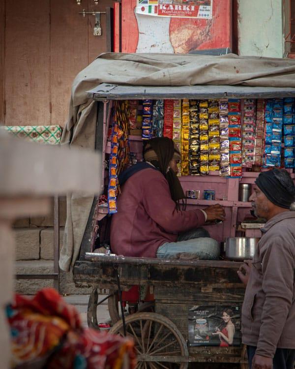 Street stalls in Varanasi