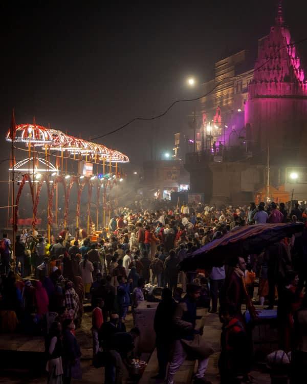 Evening aarti at Dashashwamedh Ghat