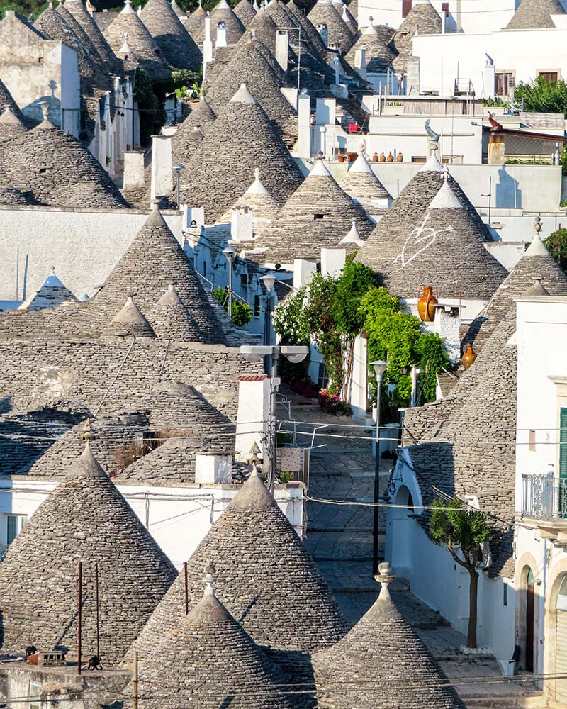 The conical rooftops of the Trulli in Puglia