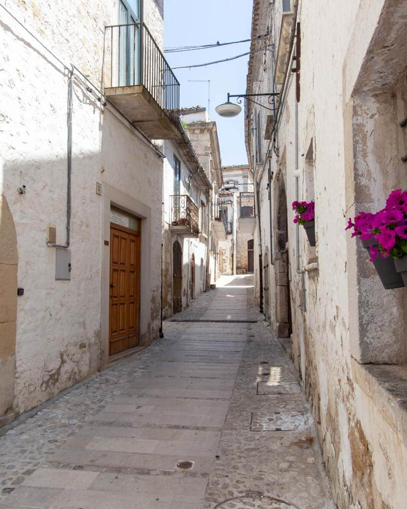 The streets of Bovino