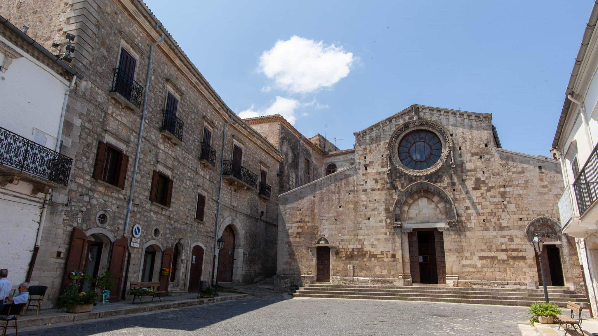 In the square of Bovino, Puglia, sits the main cathedral