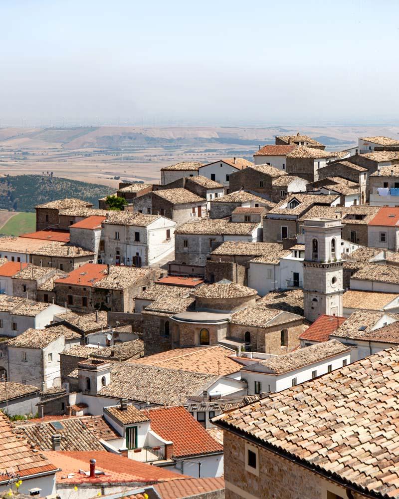 Stacked houses in Bovino Puglia