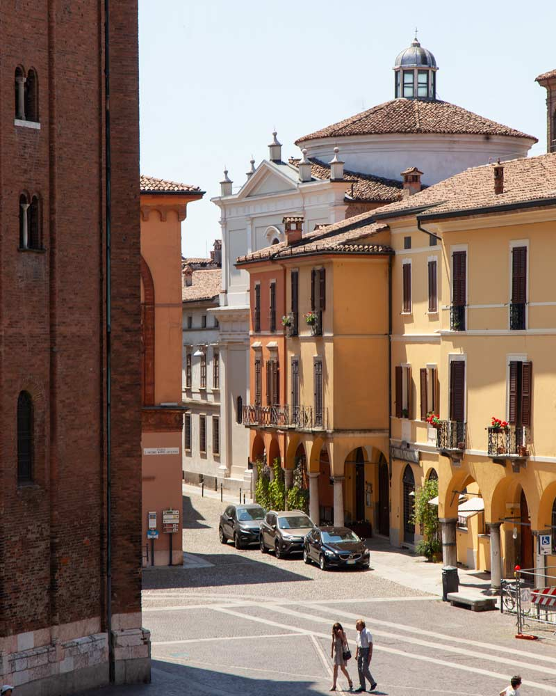 Cremona Italy a few colourful houses