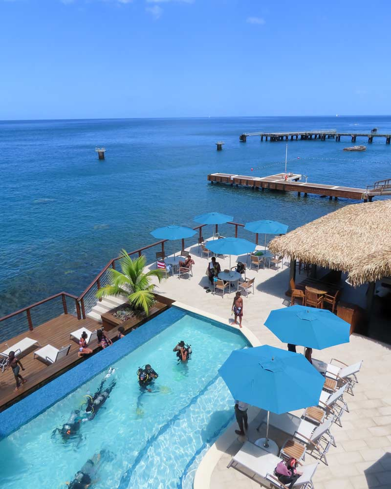 Fort Young Dominica Swimming pool