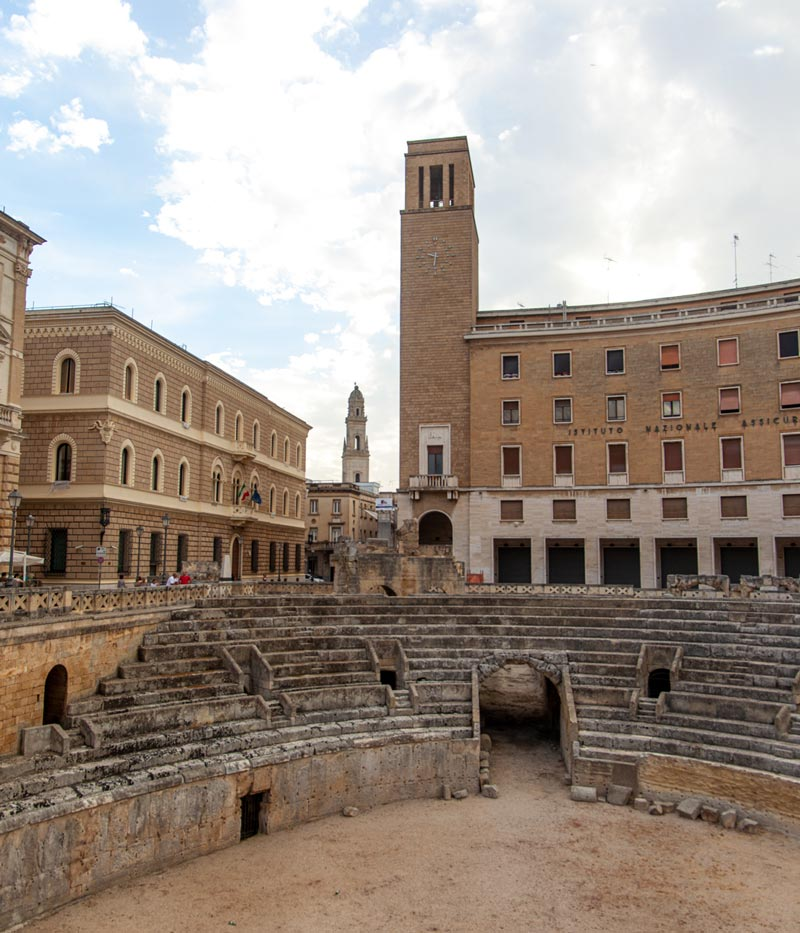 The old theatre ruins of Lecce