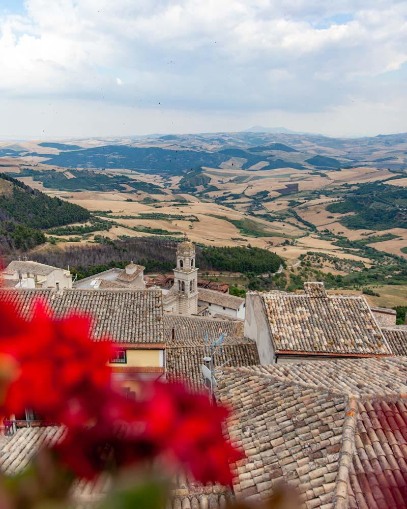 Santa Agata di Puglia looking out on the mountains
