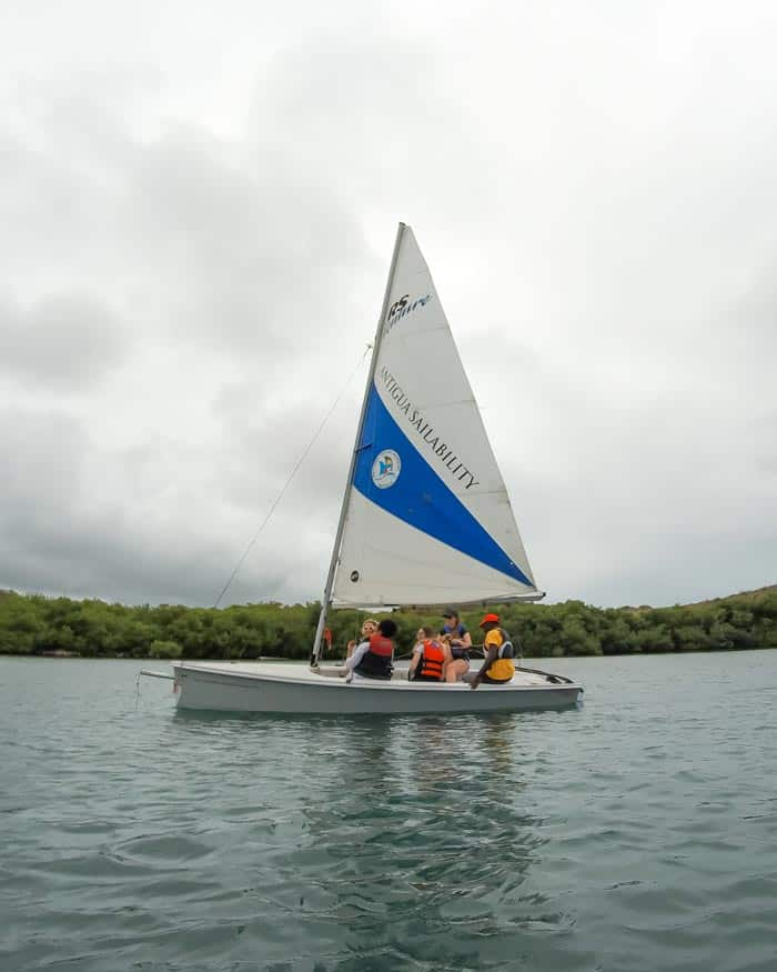 Learning to sail in Antigua