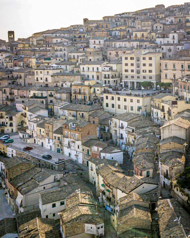 Santa Agata di Puglia as seen from above