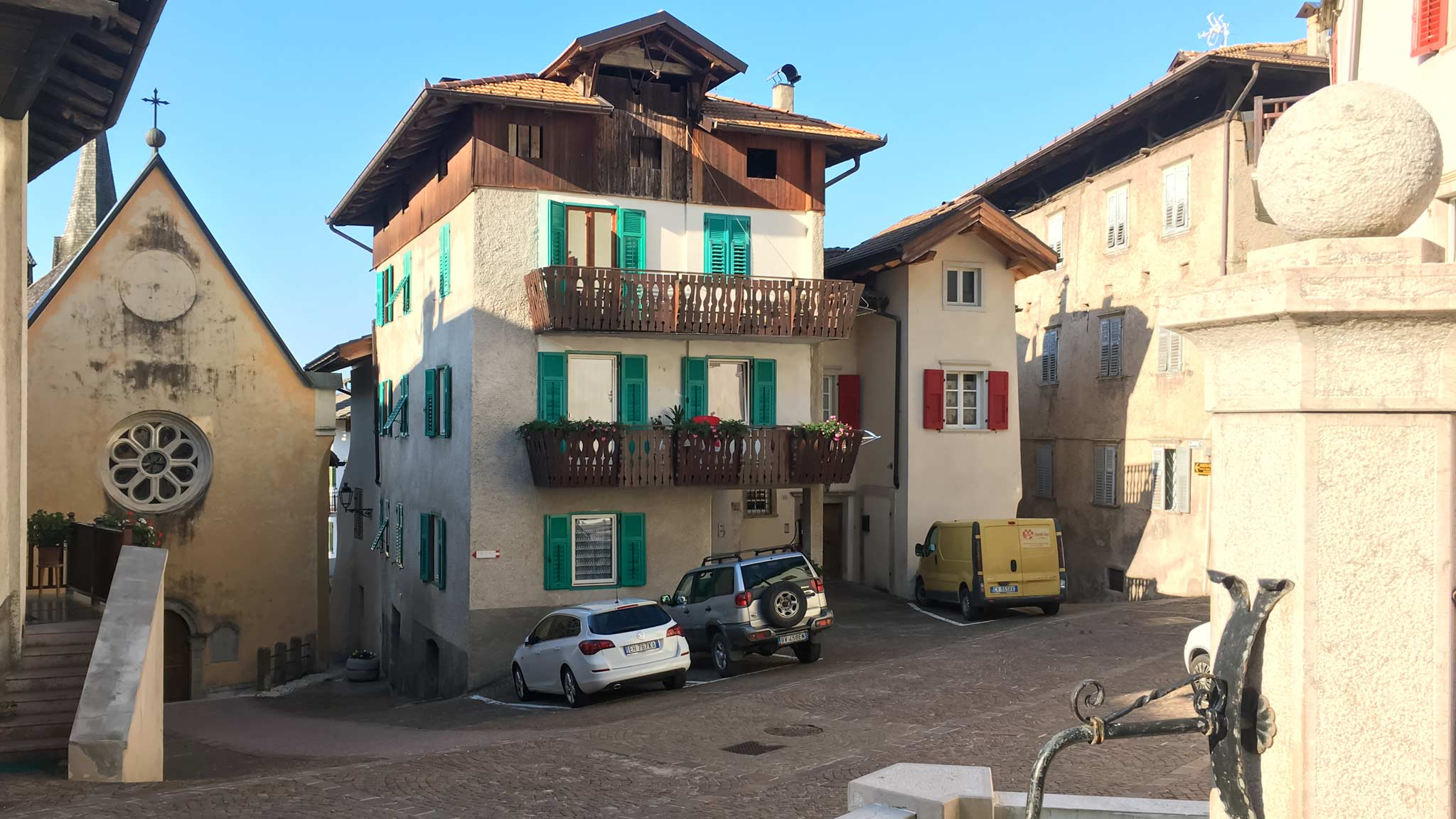 Architecture in Val Di Non with both Italian and Austrian influences