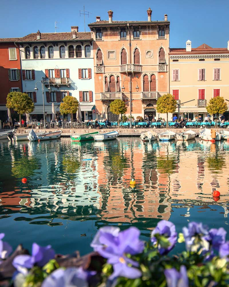 Desenzano del Garda reflecting in the water