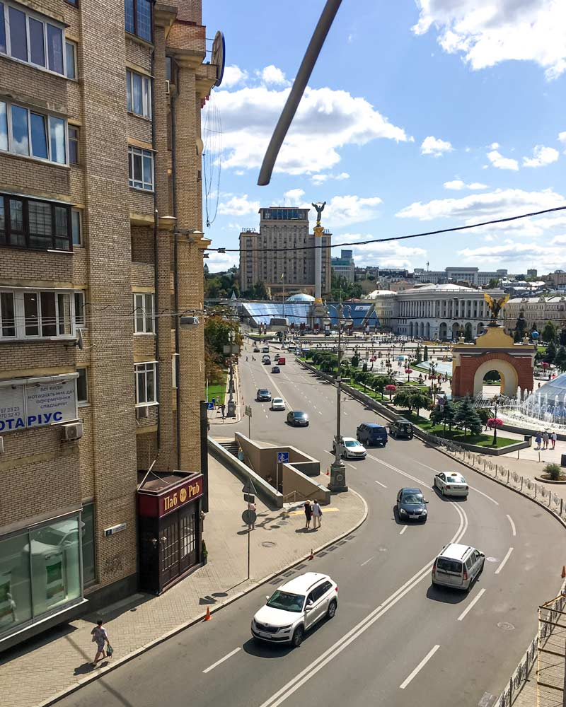 Hotel views of Independence Square